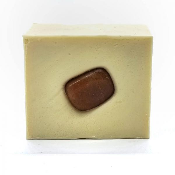 Handmade Crystal Soap Bar - Imani - top - Cinnamon and Clove