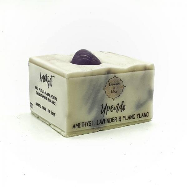 Handmade Crystal Soap Bar - Upendo - side