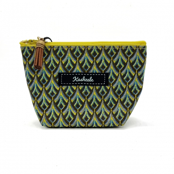 Small Cosmetic Bag - Manyoya (Feather) - Cinnamon and Clove