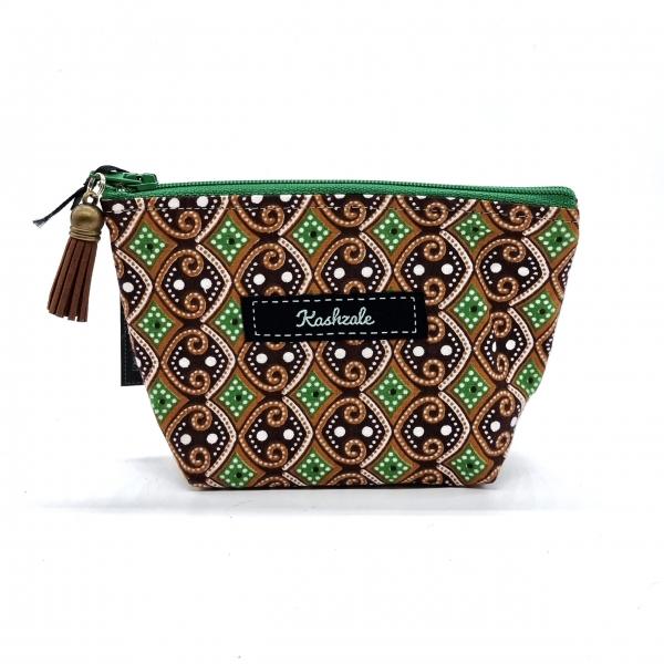 Small Cosmetic Bag - Pamoja (Together) - Cinnamon and Clove